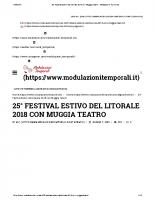 25° Festival Estivo del Litorale 2018 con Muggia Teatro – Modulazioni Temporali