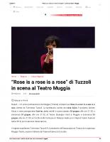 _Rose is a rose is a rose_ di Tuzzoli in scena al Teatro Muggia