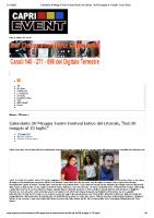 Calendario 26°Muggia Teatro Festival Estivo del Litorale, _Dal 30 maggio al 13 luglio_ _ Capri Event