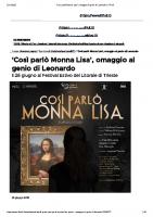 'Così parlò Monna Lisa', omaggio al genio di Leonardo _ Il Friuli
