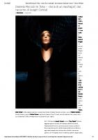 Daniela Morozzi in _Amy – storia di un naufragio_, dal racconto di Joseph Conrad – Trieste All News