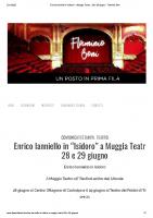 Enrico Ianniello in _Isidoro_ a Muggia Teatro – 28 e 29 giugno – Flaminio Boni