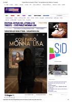 Festival Estivo del Litorale di Trieste – Così parlò Monna Lisa _ Notizie in Controluce