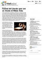 Festival del Litorale apre con un ritratto di Nikola Tesla – FriuliOnLine