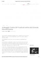 Il Tabloid_A Muggia Teatro 26° Festival estivo del Litorale Piccola Patria