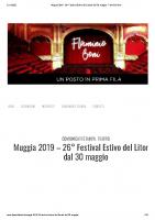 Muggia 2019 – 26° Festival Estivo del Litorale dal 30 maggio – Flaminio Boni