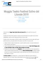 Muggia Teatro Festival Estivo del Litorale 2019 – MCNews.it