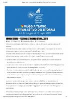 Muggia Teatro – Festival Estivo del Litorale 2019 _ Radio Punto Zero Tre Venezie