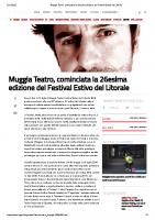 Muggia Teatro, cominciata la 26esima edizione del Festival Estivo del Litorale