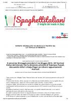 News_ Il prossimo 30 maggio prenderà il via Muggia 2019- La Tavola di Renato – Spaghettitaliani