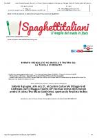 News_ Sabato 8 giugno, alle ore 21, al Centro Culturale Ottagono di Codroipo, per il Muggia Teatro 26° Festival – La Tavola di Renato – Spaghettitaliani