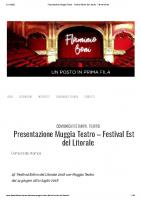 Presentazione Muggia Teatro – Festival Estivo del Litorale – Flaminio Boni