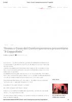Tinaos e Casa del Contemporaneo presentano _Il Cappellaio_