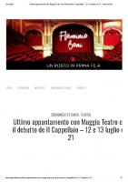 Ultimo appuntamento con Muggia Teatro con il debutto de Il Cappellaio – 12 e 13 luglio ore 21 – Flaminio Boni